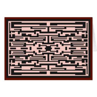 Diseño tribal del panel tarjeta de felicitación