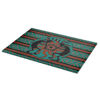 Diseño tribal del sudoeste de Sun Kokopelli de la Tablas De Cortar