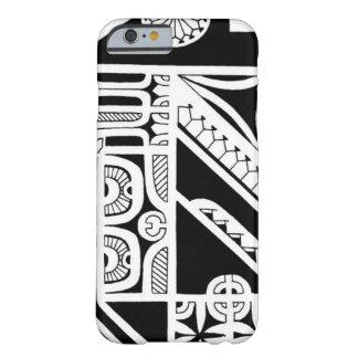 Diseño tribal del tatuaje de la isla de Marquesas Funda De iPhone 6 Barely There