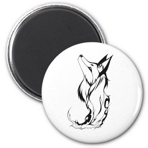 Diseño tribal del tatuaje del Fox Imanes De Nevera