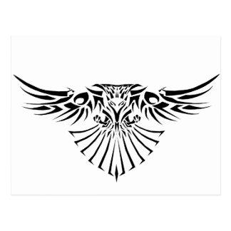 Diseño tribal del tatuaje del halcón tarjetas postales