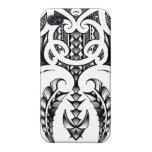 Diseño tribal del tatuaje en estilo maorí y samoan iPhone 4/4S carcasa