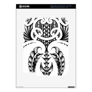 Diseño tribal del tatuaje en estilo maorí y samoan iPad 3 pegatina skin