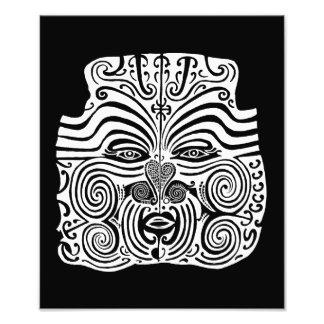 Diseño tribal del tatuaje - Nueva Zelanda maorí Fotografías