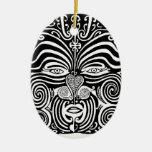 Diseño tribal maorí antiguo del tatuaje de Moko Adorno De Reyes