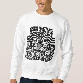 Diseño tribal maorí antiguo del tatuaje de Moko Sudaderas Encapuchadas