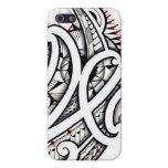 Diseño tribal maorí impresionante en el fondo iPhone 5 funda