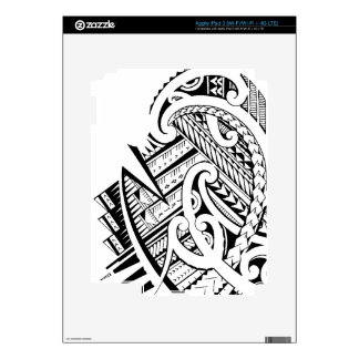 Diseño tribal mezclado del tatuaje en estilo maorí iPad 3 pegatina skin