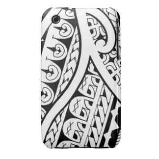 Diseño tribal mezclado del tatuaje polinesio y mao Case-Mate iPhone 3 funda