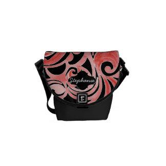 Diseño tribal moderno de la pizarra retra del remo bolsas messenger