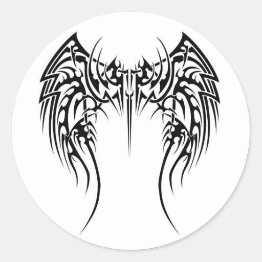 Diseño tribal pegatina redonda