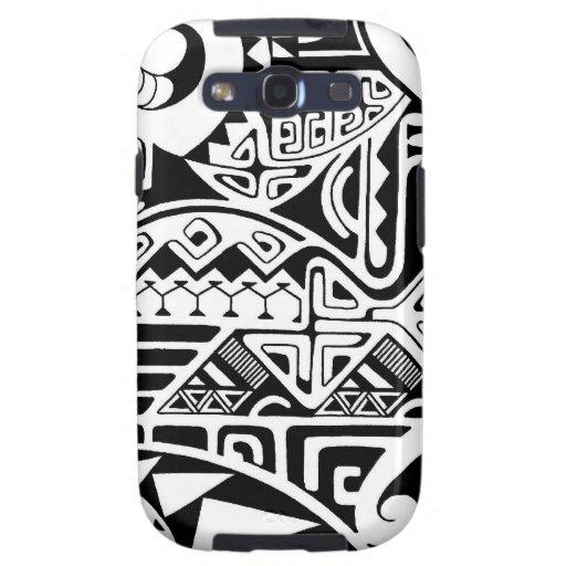 """Diseño tribal polinesio del tatuaje """"de la roca"""" carcasa para samsung galaxy s3"""