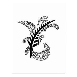 Diseño tribal postales
