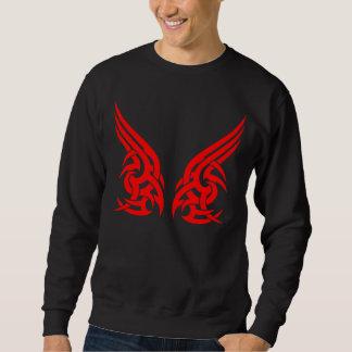 Diseño tribal rojo 5 del pecho de 2 pedazos sudadera