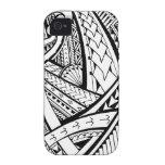 Diseño tribal samoano del tatuaje con las puntas d iPhone 4 carcasa