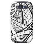 Diseño tribal samoano del tatuaje con las puntas d galaxy SIII fundas