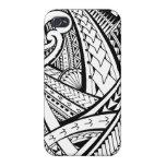 Diseño tribal samoano del tatuaje con las puntas d iPhone 4/4S carcasa