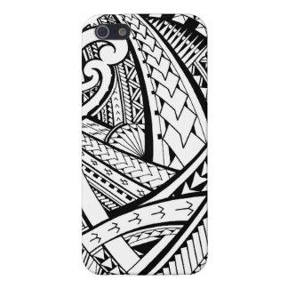 Diseño tribal samoano del tatuaje con las puntas d iPhone 5 funda