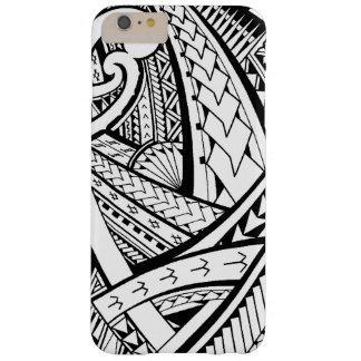 Diseño tribal samoano del tatuaje con las puntas funda de iPhone 6 plus barely there