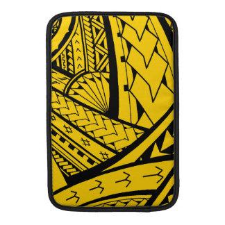 Diseño tribal samoano del tatuaje con las puntas funda macbook air