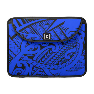 Diseño tribal samoano del tatuaje con las puntas fundas macbook pro