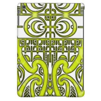 Diseño tribal simétrico brillante del tatuaje de funda para iPad air