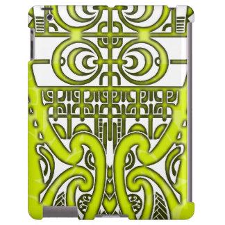 Diseño tribal simétrico brillante del tatuaje de funda para iPad