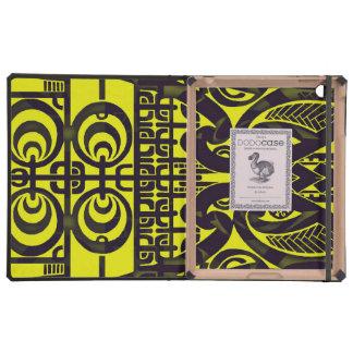 Diseño tribal simétrico brillante del tatuaje de iPad cárcasas