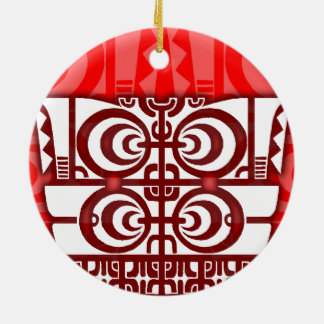 Diseño tribal simétrico fresco del tatuaje de adorno redondo de cerámica