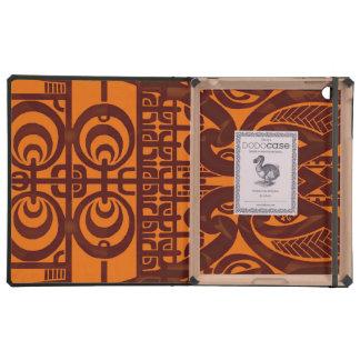 Diseño tribal simétrico fresco del tatuaje de iPad carcasas