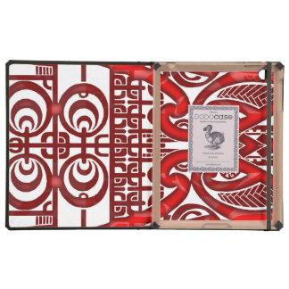Diseño tribal simétrico fresco del tatuaje de iPad fundas