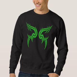 Diseño tribal verde 3 del pecho de 2 pedazos sudadera con capucha