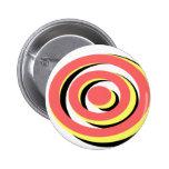 Diseño tricolor retro de Hypno de la diversión Pins