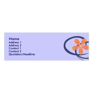 Diseño tropical azul coralino tarjetas de visita mini