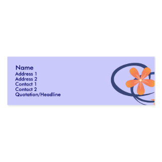 Diseño tropical azul coralino tarjetas de visita
