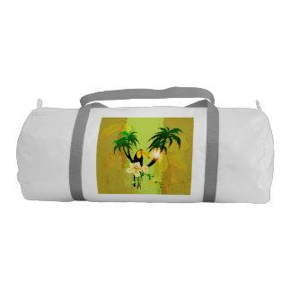 Diseño tropical bolsa de deporte