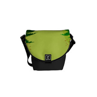Diseño tropical bolsa de mensajeria
