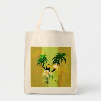 Diseño tropical bolsa tela para la compra