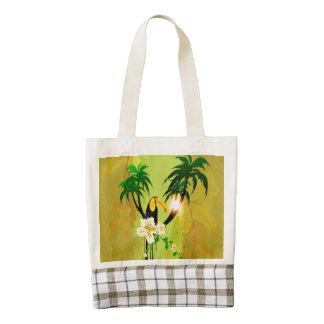 Diseño tropical bolsa tote zazzle HEART