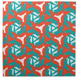 Diseño tropical de la sorpresa servilletas imprimidas