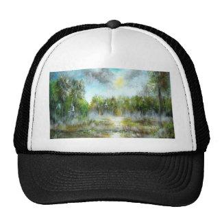 Diseño tropical del paraíso gorras