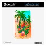 Diseño tropical del verano calcomanía para iPod touch 4G