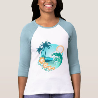 Diseño tropical playeras