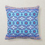 Diseño turco azul de Iznik del otomano de la teja Almohadas