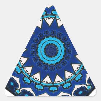 Diseño turco de la teja del otomano del adorno de pegatina triangular