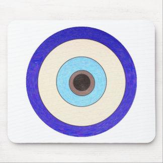 Diseño turco del mal de ojo de Nazar Tapetes De Ratones