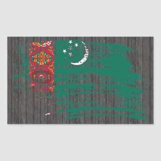 Diseño turcomano fresco de la bandera rectangular pegatinas