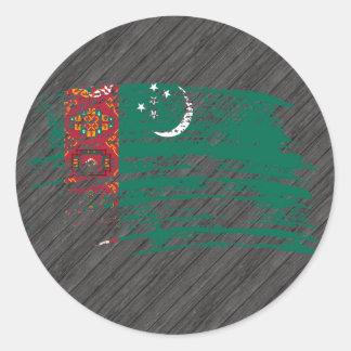 Diseño turcomano fresco de la bandera etiquetas redondas