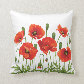 Diseño ucraniano de la almohada roja de las