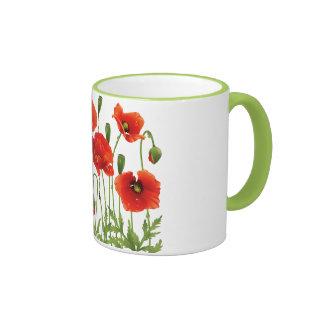 Diseño ucraniano rojo de la taza de café de las am